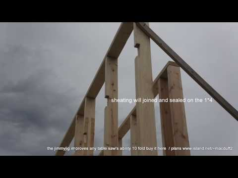 Passive House Construction/ Double Wall build and the window wells plywood liners