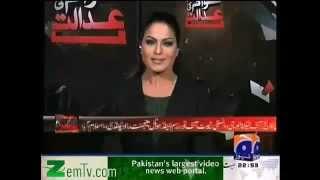 Veena Malik in Awaam Ki Adalat - GEO TV