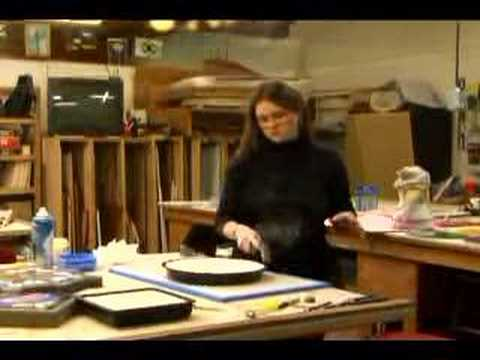 How to Make Stepping Stones Out of Stained Glass : How to Remove Stained Glass Stepping Stones from the Mold