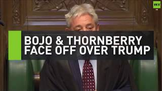 BoJo & Thornberry face off over Trump