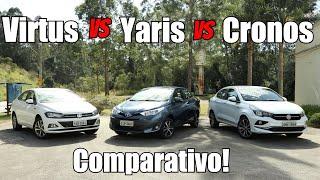 Download Comparativo - Toyota Yaris, Fiat Cronos e Volkswagen Virtus - Falando de Carro Video