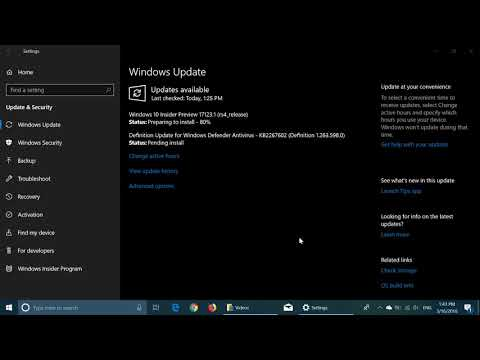 Windows Insider preview build 17123 released March 16th 2018