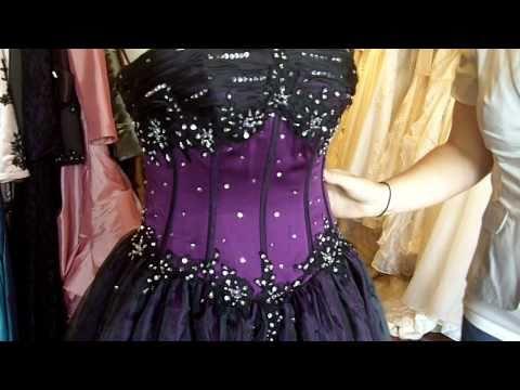 Purple and Black Gothic Wedding Dress from http://www.weddingdressfantasy.com