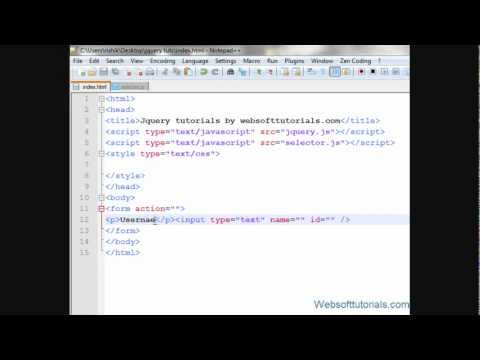 jquery tutorials for beginners - 18 - jquery form field selector
