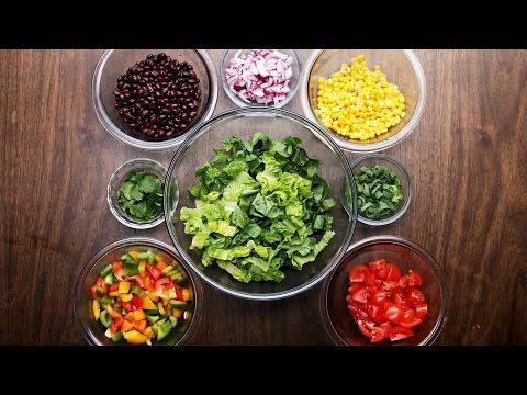 Southwestern Salad With Avocado Dressing