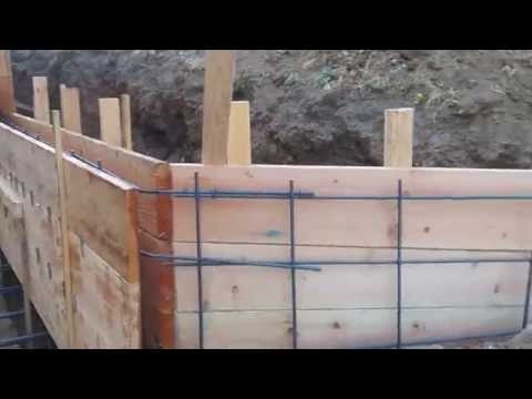 Veterans concrete,...retaining wall form work progress