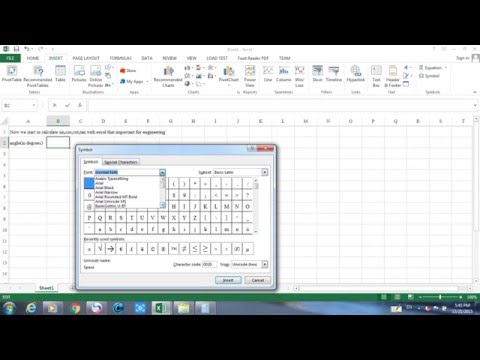 calculate sin,cos,cot,tan with excel