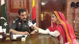 SSP Hyderabad pir Muhammad Shah talking Ume Alisha about security situation