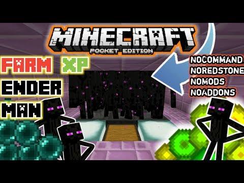 Cara Membuat FARM XP ENDER MAN + EnderPearl di Minecraft PE dan MCPC NoMods,NoCommand