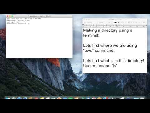 How to make a directory using Terminal in MAC OSX???