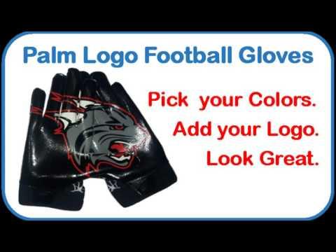Palm Logo Gloves / Palm Logo Football Gloves / Custom Sports Gloves (602) 326-4290