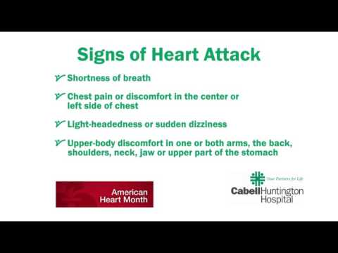 Signs of a heart attack can save your life