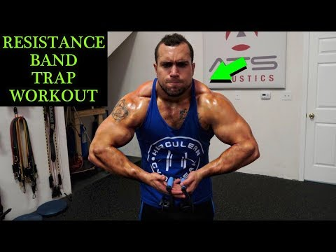 Intense 5 Minute Resistance Band Trap Workout