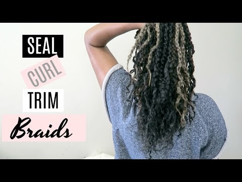 HOW TO SEAL BRAIDS WITH HOT WATER ft. Marley Twists // Ti Sonders ⱽᴱᴰᴬ ᴰᵃʸ ⁴