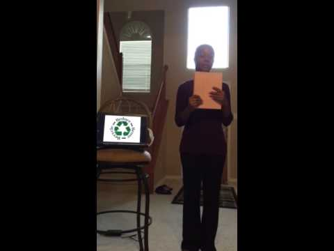 Motivated Speech: Recycle Save Earth
