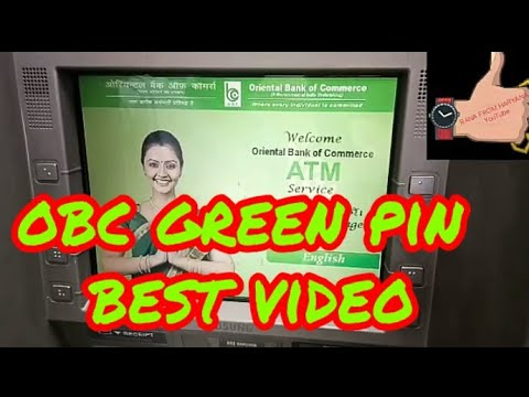 How to generate Obc green pin ATM ! Rana from haryana