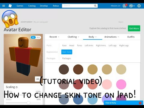 How to change you're skin tone on Ipad! (tutorial video)