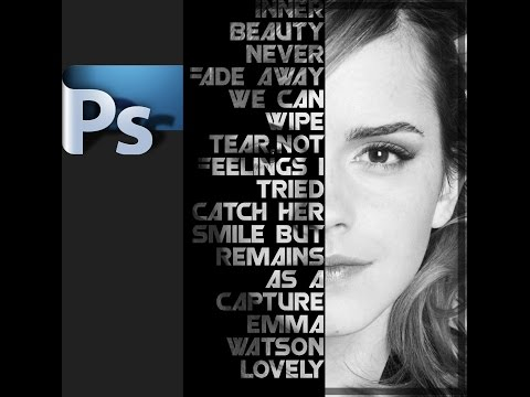 Text poster on face - Photoshop  tutorial