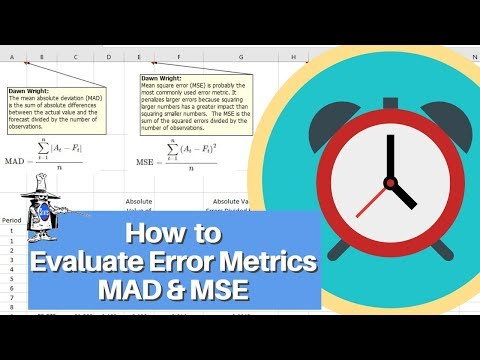How to Evaluate MAD, MSE, RMSE, and MAPE for an Excel Forecast