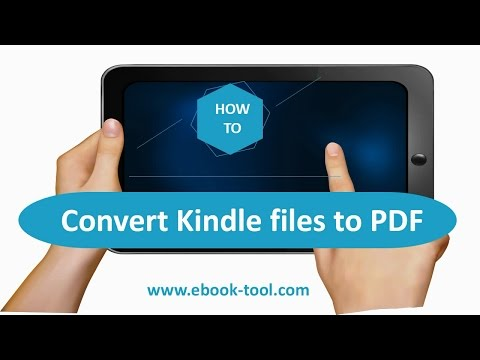 How to Convert ebooks to PDF and remove DRM from Kindle, Kindle Paperwhite, Kindle Voyage