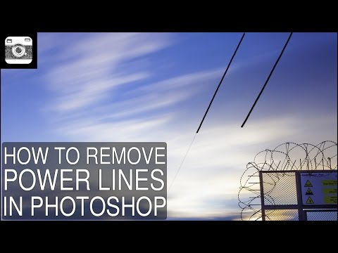 How to remove power lines in Photoshop