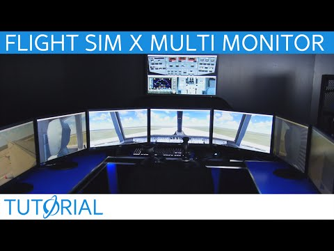 Flight Sim X Multi Monitor Tutorial Video (Up to 8 Monitors!!)