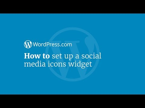 WordPress Tutorial: How to Set Up a Social Media Icons Widget