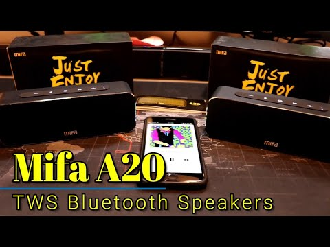Mifa A20 -  TWS Bluetooth Speakers - Pair them up for surround sound!