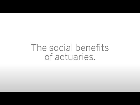 The social benefits of actuaries.