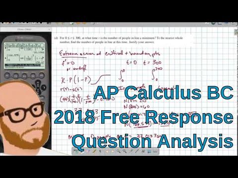AP Calculus BC 2018 Free Response Discussion