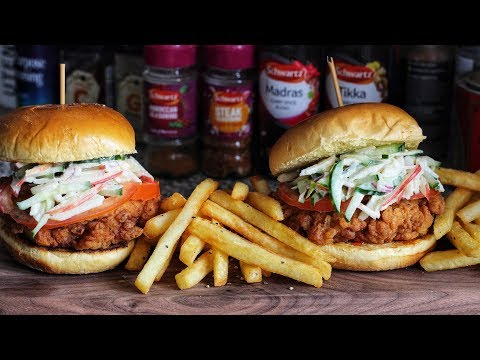 The Ultimate Chicken Burger   Buttermilk Fried Chicken & Apple Slaw