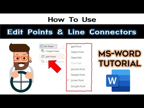 Edit Shape Points and How to Use Connectors | Microsoft Word 2016 Drawing Tools Tutorial
