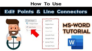 Edit Shape Points And Using Connectors Microsoft Word 2016 Drawing To
