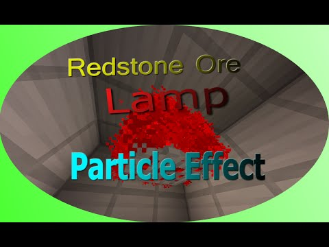 Minecraft PE : How to Make Redstone Ore Lamp (Particle Effect) (Indonesian Speak)