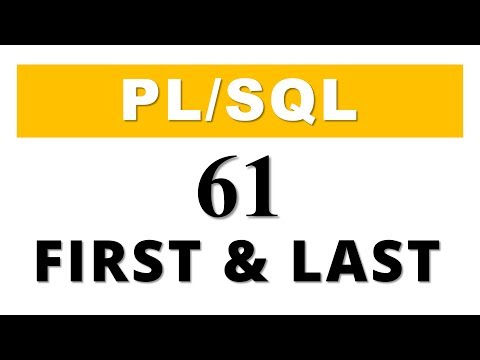 PL/SQL tutorial 61: Collection Method FIRST & LAST in Oracle Database