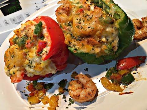 Shrimp Stuffed Bell Peppers !