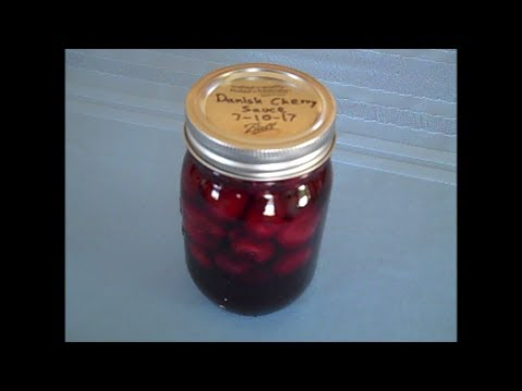 Danish Cherry Sauce Canning Recipe - Ball Complete Guide to Home Preserving