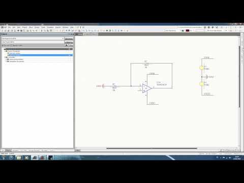 UTC Hardware/Software Design #9 - Altium Designer, Simulation d'un amplificateur opérationnel