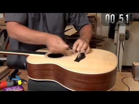 How Fast Can Rob Change a Set of Strings on a Taylor Guitar?