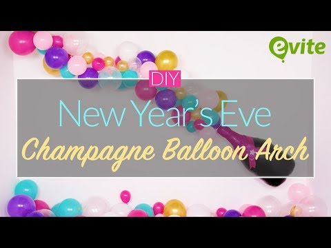 DIY Champagne Balloon Arch for New Years Eve