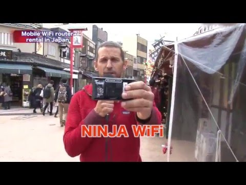 Mobile WiFi Router rental in Japan|A must have for trips to Japan. NINJA WiFi