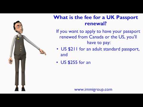 What is the fee for a UK Passport renewal?