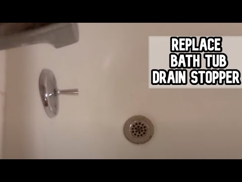 How to fix bath tub drain stopper DIY video