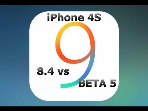 iOS 9 Beta 5 vs 8.4 on iPhone 4S (iOS 9 Public Beta 3)