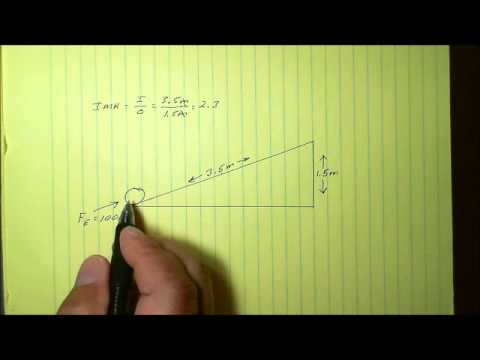 Simple Machines: Inclined Plane Calculations Part 1