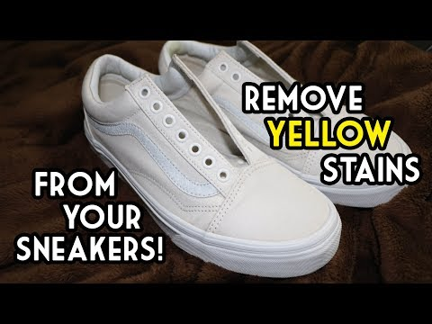 How To Remove Yellow Stains From White Sneakers | The SIMPLEST and MOST EFFECTIVE Way
