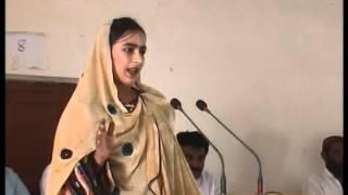 Baloch Girl asking questions (Sindhi Speech) GBES Siraj Ahmed Kathore