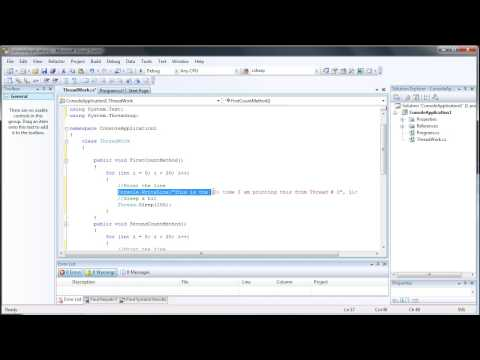 How to Create a Multi-Threading Application - C# C Sharp Visual Studio 2008