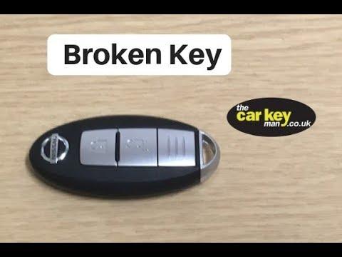 Broken Nissan key - damage during battery change