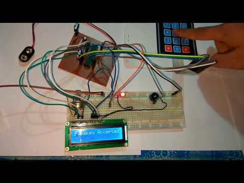 Password Protected Digital Door Lock System using 3*4 Matrix Keypad